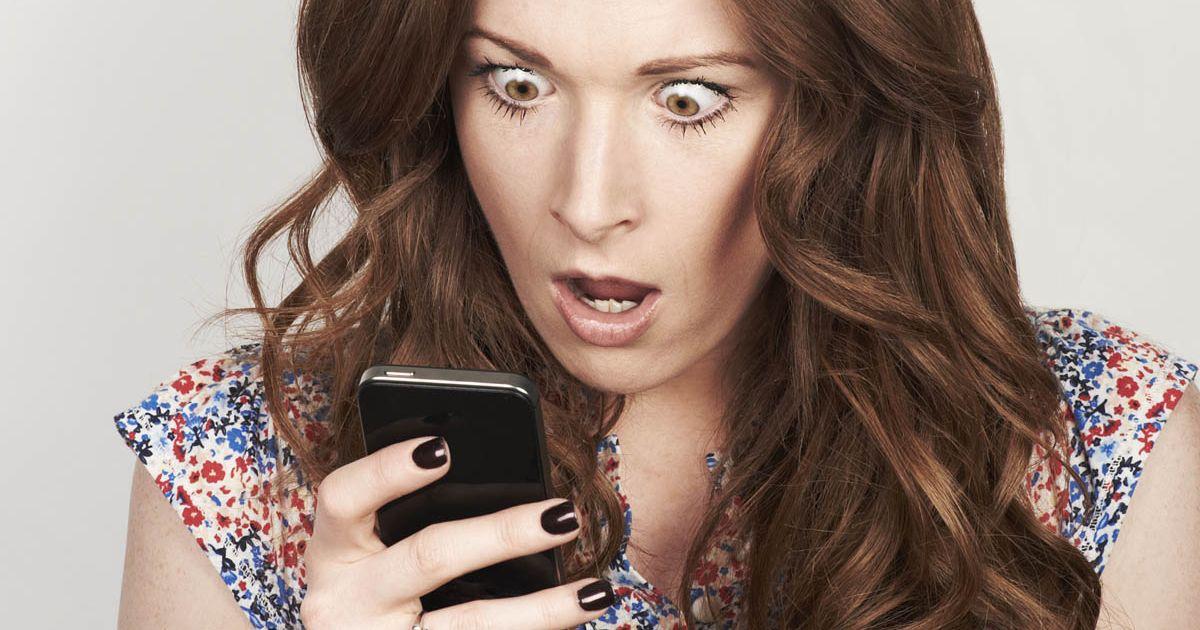 Woman shocked phone
