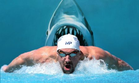 michael-phelps-shark-race