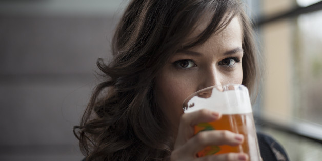 Girl Drinking Beer