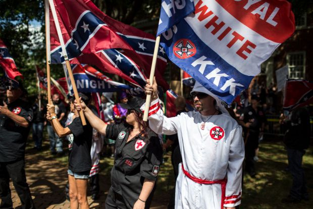 KKK protests in Charlottesville