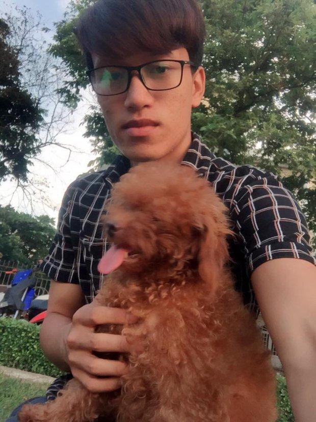 Tran Tien and doggo