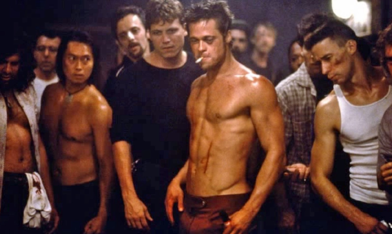 brad pitt, tyler durden, fight club