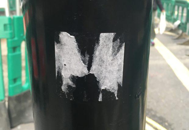 Nazi Sticker ripped