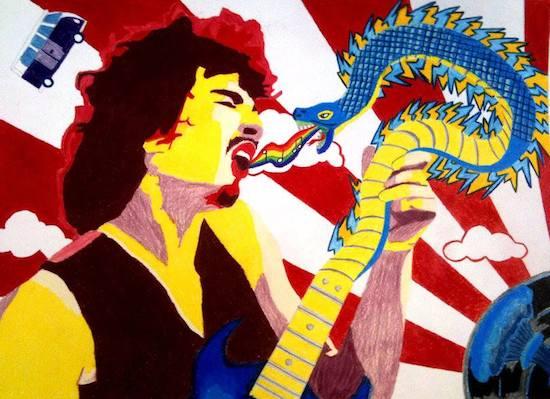 Santana Guitar Woofstock