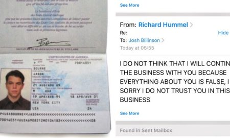 Troll scam Jason Bourne passport
