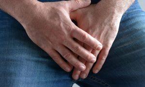 Guy Holding Crotch