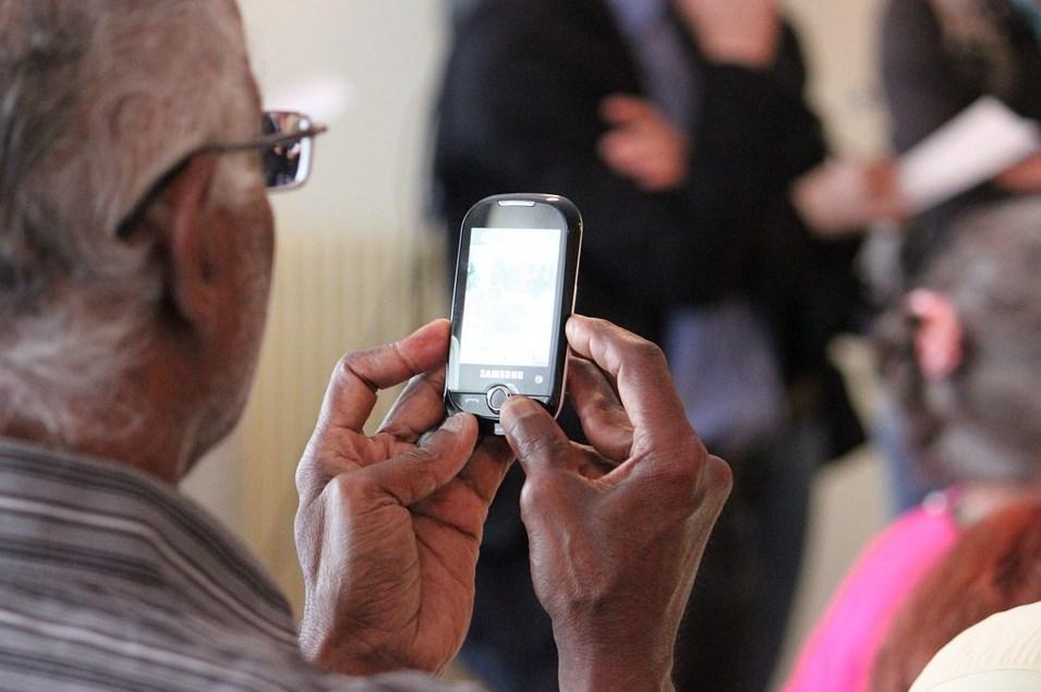 Elderly Man Phone