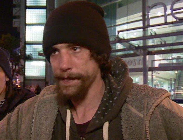 Chris Parker, Homeless Hero Manchester Attacks Picture: BBC (gr