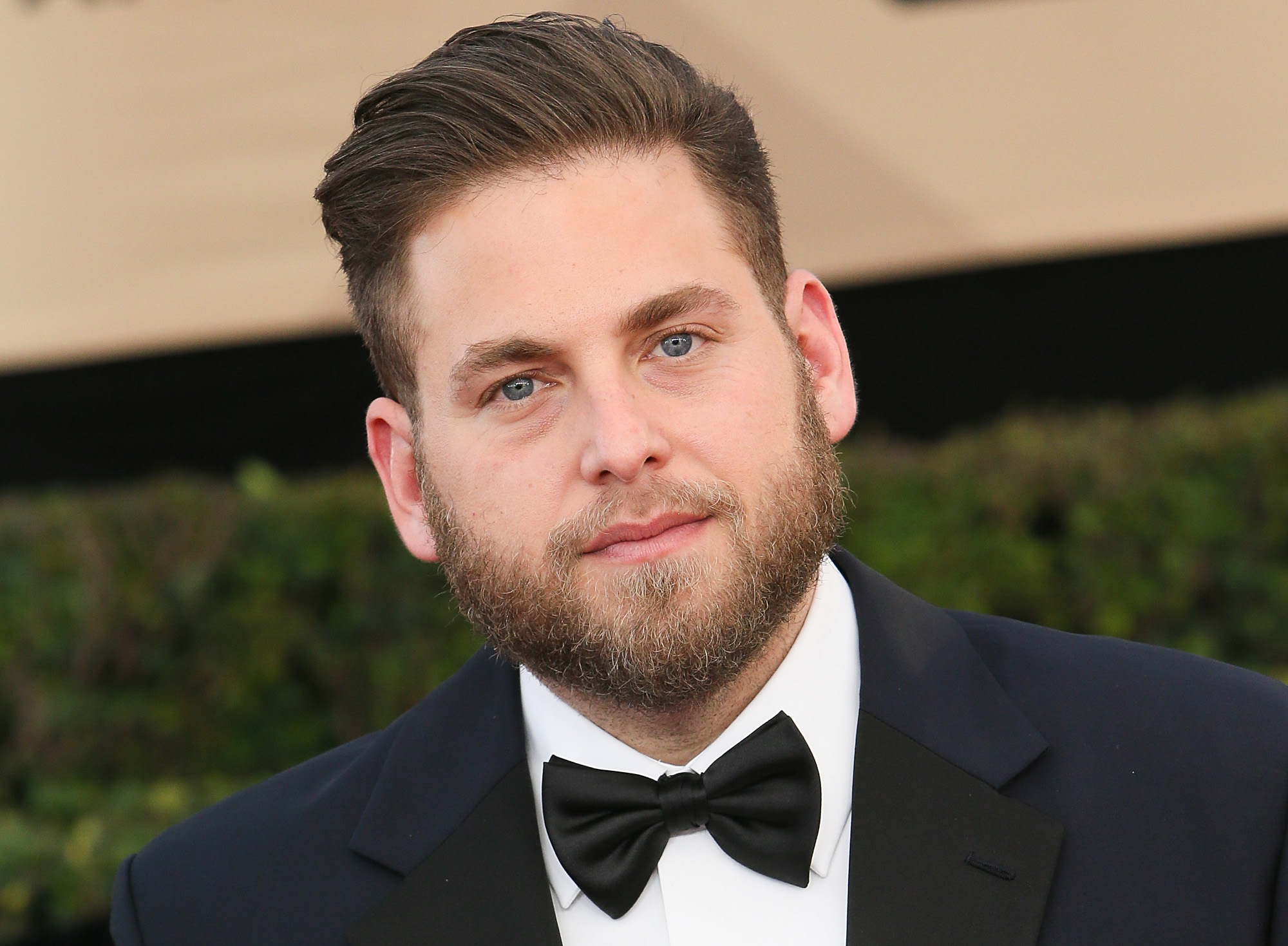 Jonah Hill Has Long Blonde Hair And A Beard In His New
