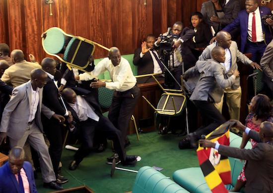 Parliament Brawl