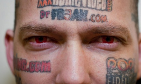 Porn Websites Tattooed Face