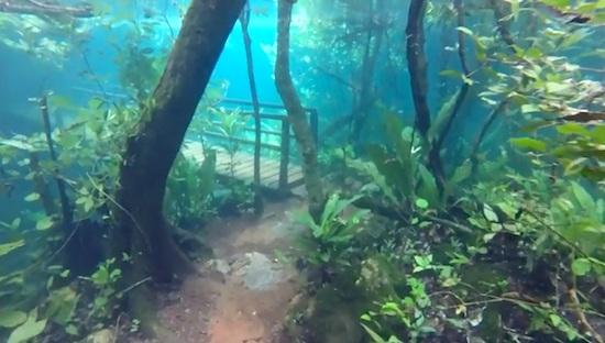 Underwater hiking trail