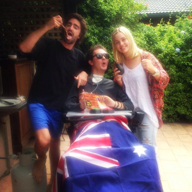 Footy player Sam Ballard becomes paraplegic after swallowing slug as a dare at a 19th birthday party