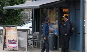 Greggs hires bouncer