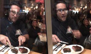 Guy Eating Meat