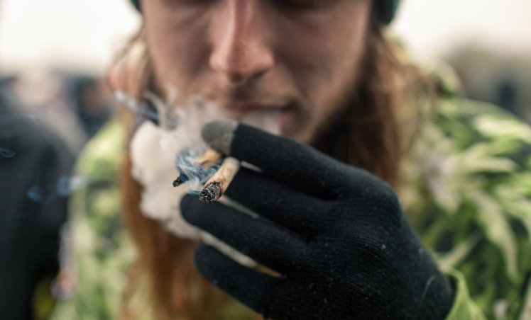 Light it up: smokers enjoy marijuana at the Pro Cannabis Rally in Hyde Park in London