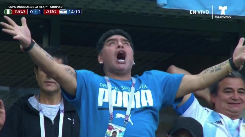 Maradona Celebrating