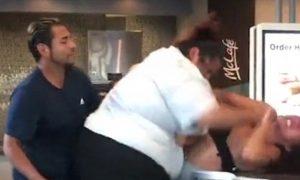 McDonald's Worker Fights