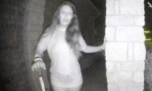 Woman Doorbells