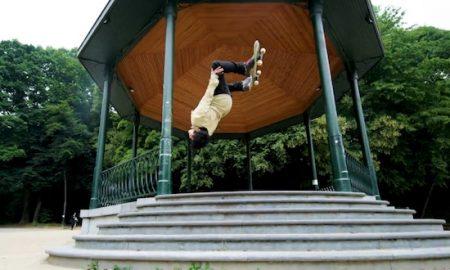 Skateboarding Parkou