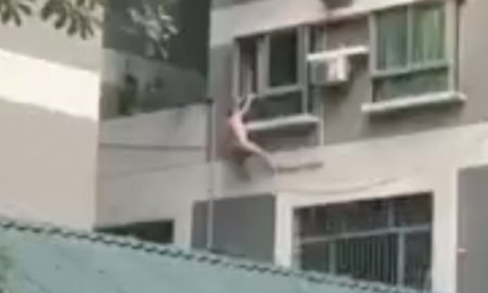 Hanging From Balcony