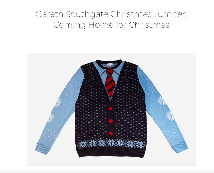SOutgate Christmas Jumper