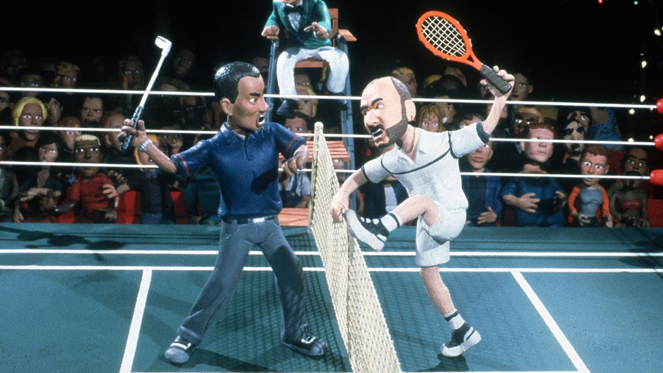 Celebrity Deathmatch (MTV)Shown: Tiger Woods vs. Andre Agassi