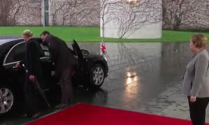 Theresa May Locked Car