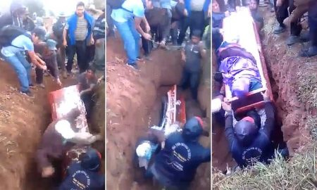 Woman Falls Out Of Coffin