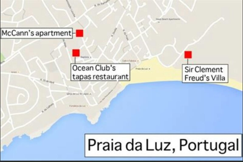 This Conspiracy Thread On Madeleine McCann's Disappearance ... on face map, housig m a map, restaurant map, floor map,
