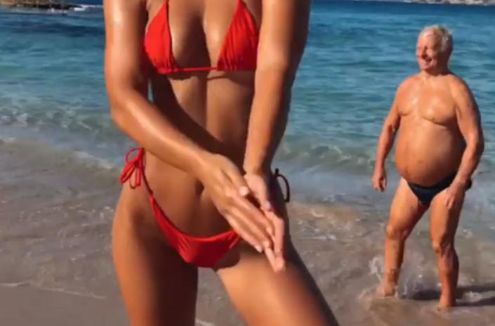 Man bikini old in What should