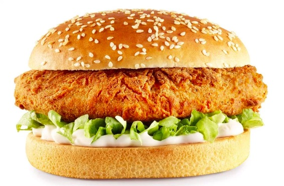 KFC vegan chicken burger