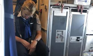drunk flight attendant