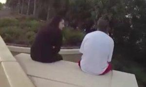 woman saves man