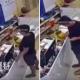 Man poop floor