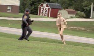 naked police