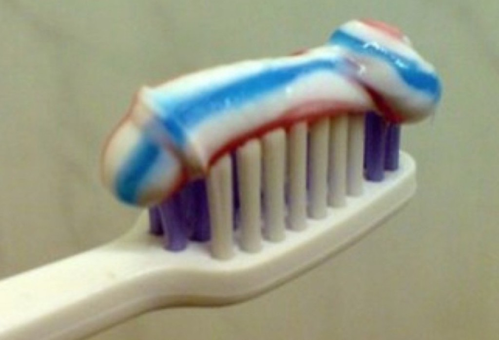 toothpaste penis