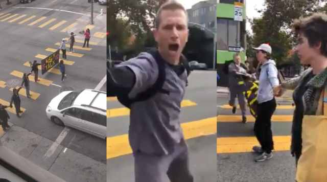 Man Has Enough Of Climate Change Protesters Blocking Traffic Clears Them Out Of The Street Sick Chirpse