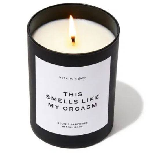 Candle that smells like a penis